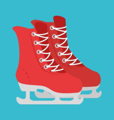 Naklejka Sport zimowy i zużycie mody
