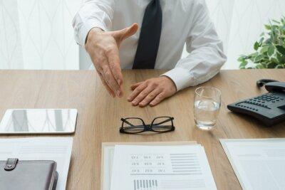 Spotkanie biznesowe w biurze