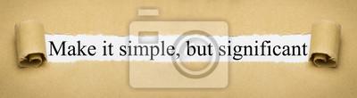 Naklejka Spraw, by było proste, ale znaczące