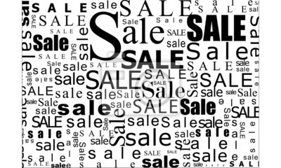 Naklejka sprzedaż wielka typo oszczędności
