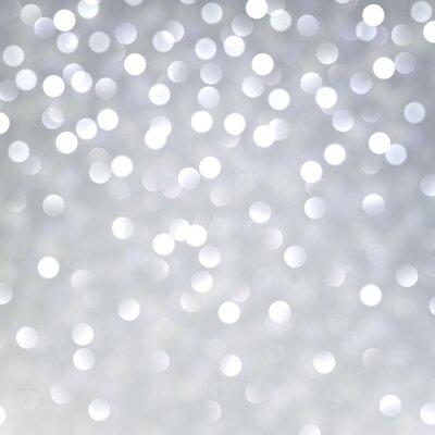 Naklejka Srebrny christmas tła.