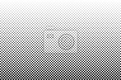 Naklejka Średnie kropki półtonów wektorowe tła. Nakładka tekstury.
