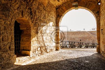 Średniowieczna kamienna brama w twierdzy w Belgradzie, Serbia w Belgradzie