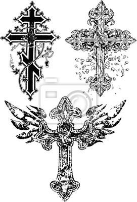 Naklejka średniowieczny Krzyż Tatuaż Na Wymiar Sztuka