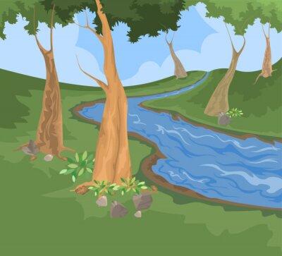 Naklejka Środowisko i rzeki strumień wektora tło natura