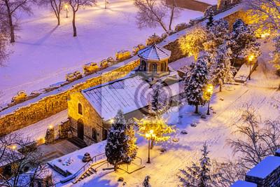 St Petka church in winter, Belgrade, Serbia