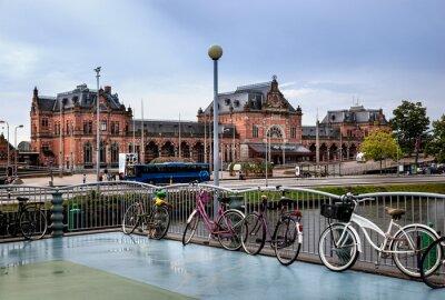 Naklejka Stacja kolejowa w Groningen