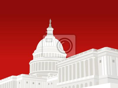 Naklejka Stany Zjednoczone Kapitol w Waszyngtonie