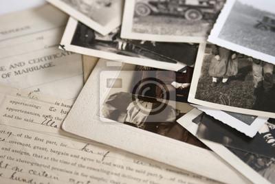 Naklejka Stare fotografie i dokumenty