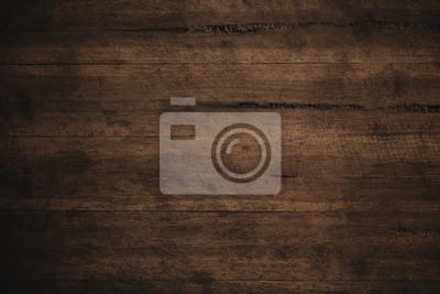 Naklejka Stare grunge ciemne teksturowanej tle drewniane, Powierzchnia starego brązowego drewna tekstury