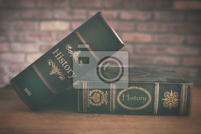 Naklejka Stare Historia Książki