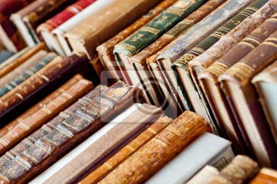 Naklejka stare książki, tło