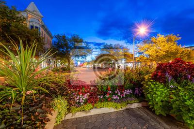 Naklejka Stare Miasto, Fort Collins w Blue Hour