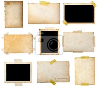 Naklejka stare pocztówki zdjęcie