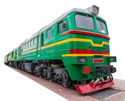 Naklejka Stare zielone lokomotywa