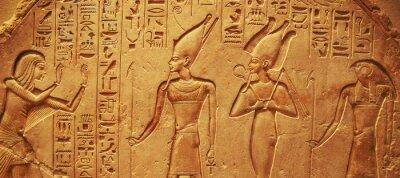 Naklejka Starożytne hieroglify Egiptu