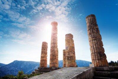 Naklejka Starożytny grecki świątynia Apolla
