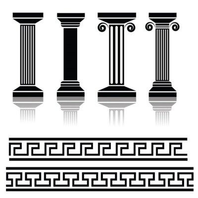 Naklejka starożytnych kolumn