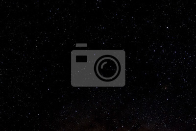 Naklejka Stars and galaxy outer space sky night universe black starry background of shiny starfield
