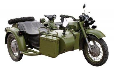 Naklejka stary (60-70-gie) Motorcykl wojskowa