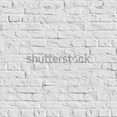 Naklejka Stary Biały ściana z cegieł. Bezszwowa Tileable tekstura.