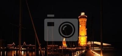 Stary port w Lindau, Niemcy