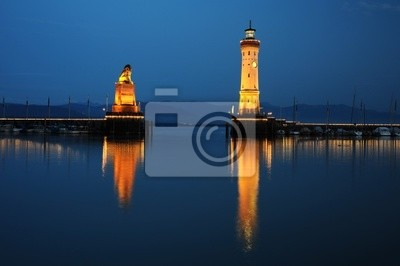 Naklejka Stary port w Lindau, Niemcy