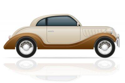 Naklejka stary samochód retro ilustracji wektorowych