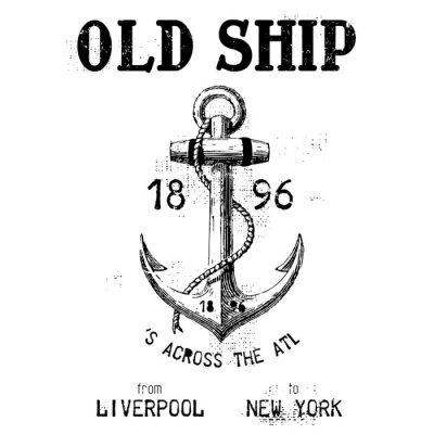 Naklejka stary statek