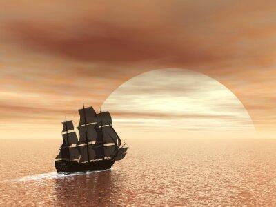 Naklejka Stary statek HSM Victory - 3D render