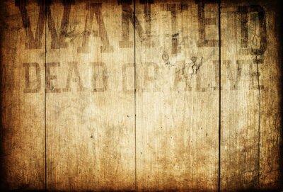 Naklejka Stary western chciał podpisać na ścianie drewniane.