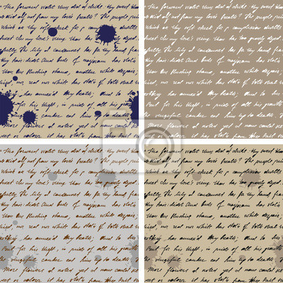 Stary z papieru ręcznie napisany tekst Jednolite tło