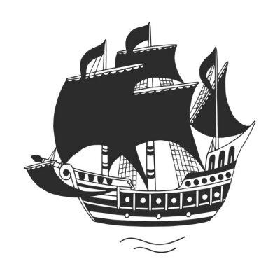 Naklejka statek