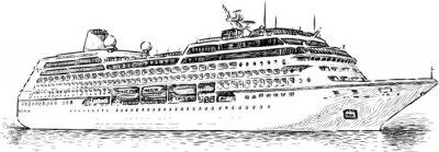 Naklejka Statek wycieczkowy