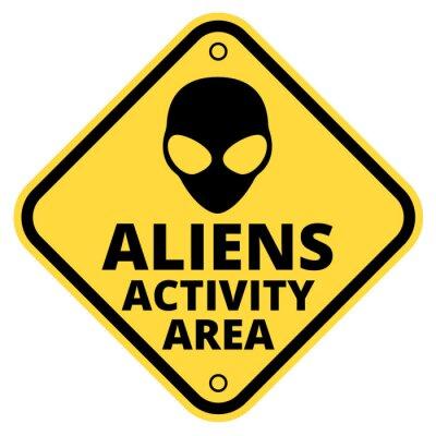 Naklejka Statki UFO