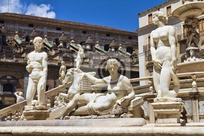 Naklejka Statua di Piazza della Vergona - Palermo