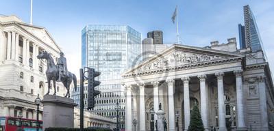 Naklejka Statua królowej Wellington i zabytkowych budynków, Londyn, Wielka Brytania