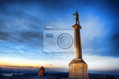 Naklejka Statue of Victory in capital city Belgrade, Serbia