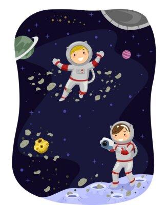 Naklejka Stickman Kids Outer Space zdjęcie