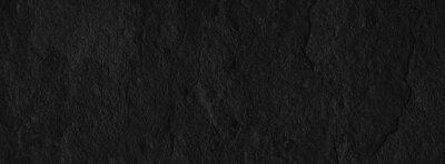 Naklejka Stone black texture background. Dark cement, concrete grunge. Tile gray, Marble pattern, Wall black background blank for design