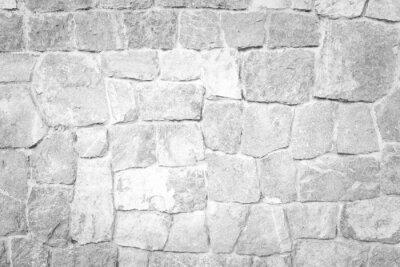 Naklejka Stone wall texture White color