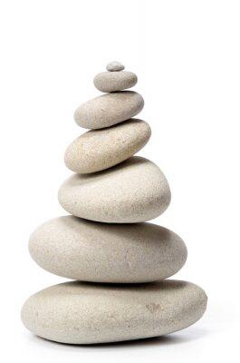 Naklejka stos kamieni na białym tle