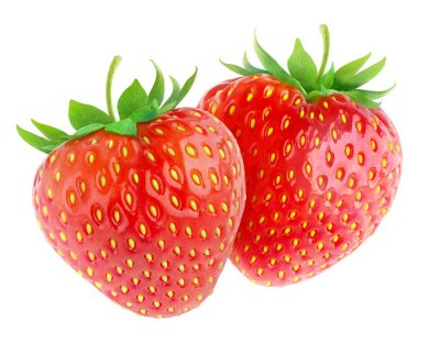 Naklejka Strawberries isolated on white