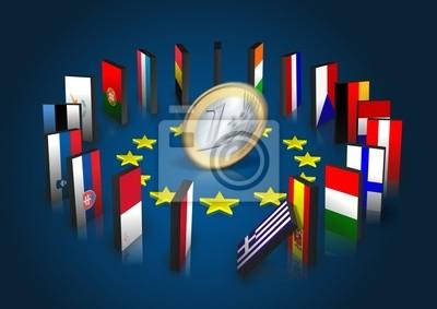 Strefa euro kippt - Dominoeffekt - Euro dreht sich