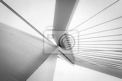Naklejka Streszczenie architektury w czerni i bieli
