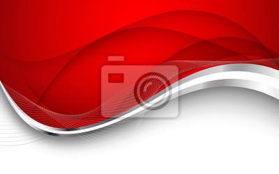 Naklejka Streszczenie czerwonym tle. Ilustracja wektorowa