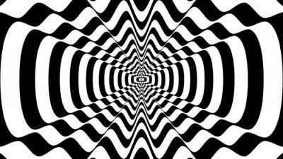 Naklejka Streszczenie faliste kształt z siedmiu grzbietów - złudzenie optyczne