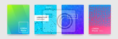 Naklejka Streszczenie gradient kolor deseń tekstury dla książki okładka szablonu wektora zestawu