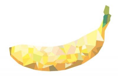 Naklejka Streszczenie ilustracji wektorowych Banana Polygon