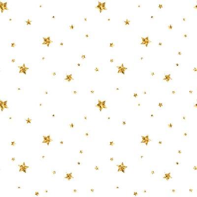 Naklejka Streszczenie jasne złoty wzór dla tapety, świąteczne dekoracje, konfetti, tekstylne, opakowania.